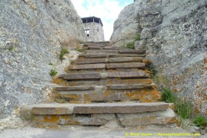 Stairs leading to the fire tower at Harney Peak